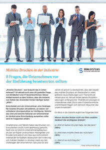 Mobiles Drucken in der Industrie