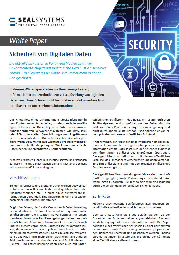 Whitepaper-Digitale-Datensicherheit New White Paper: Security of digital Data