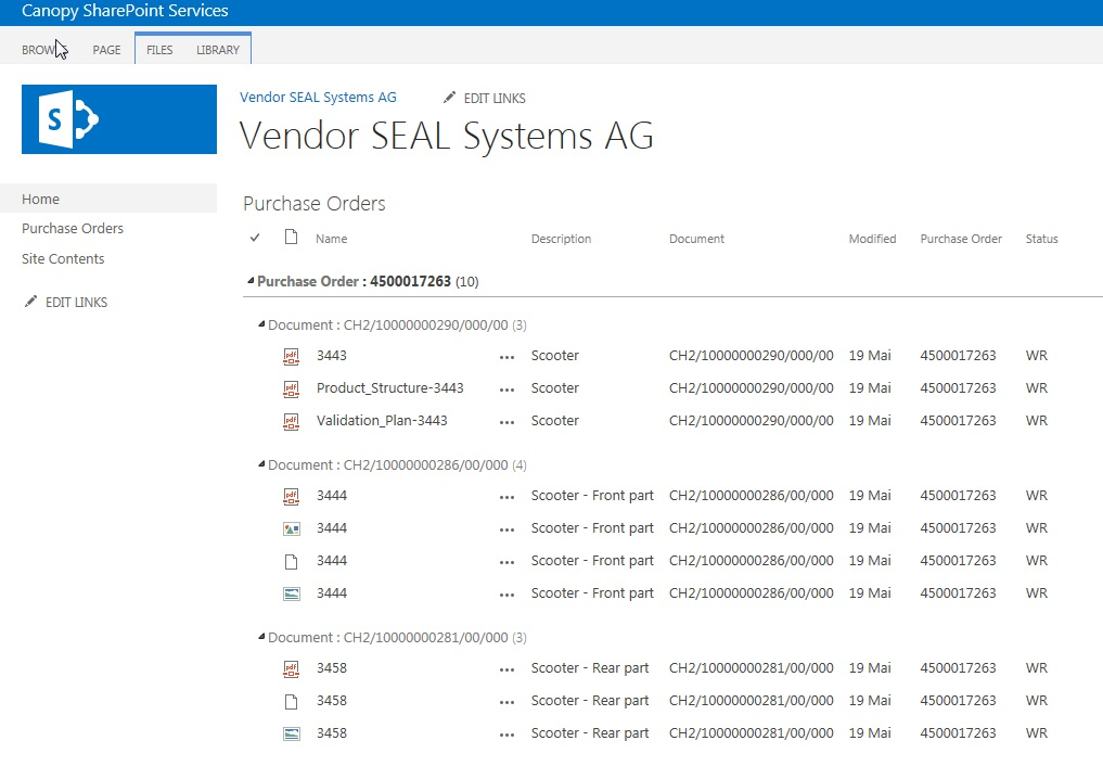 Transfer documents from SAP into SharePoint