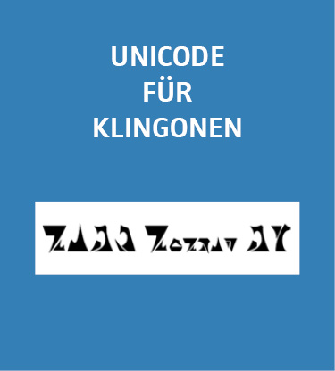 beispiel klingonisch wie kommen sprachen ins unicode. Black Bedroom Furniture Sets. Home Design Ideas