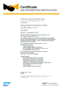 SAP-Zertifikat-212x300 SAP BC-XDC Certification for Integration passed with Success