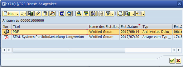 BDS-Anlagenliste_587 Wie kann ich mit Object Services Dokumente in Business Document Services (BDS) nach SAP verlinken?