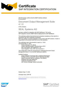 Zertifikat-SAP-208x300 Document Output Management Suite wurde rezertifiziert