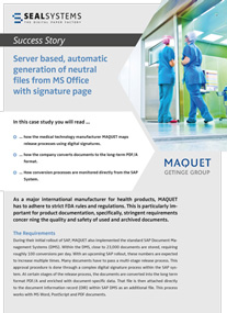 Blog-maquet-en-207 Server based, automated generation of neutral files from MS Office with signature page