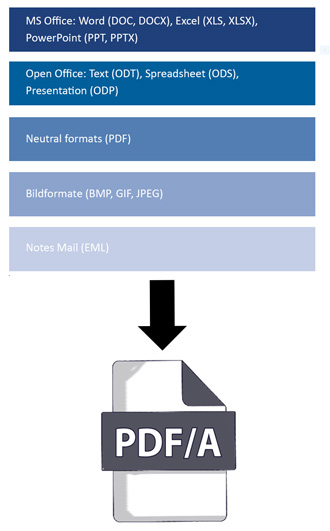 Formats-in-PDF-en Corporate Conversion Server for a Public Insurance Company