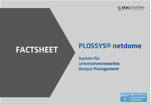 Titelseite-PLOSSYS Factsheet: Output Management Engine PLOSSYS netdome