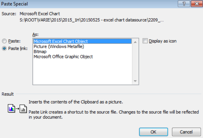 Paste-link Archiving an Office Document with Embedded Files in PDF/A Format