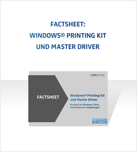 Blogbeitrag - Neues Factsheet - Windows Printing Kit und Master Driver